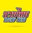 muay thai text font vector image