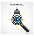 vision and ideas signeye icon vector image