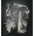Wine chalkboard decorative set vector image