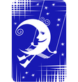 Young Moon Swinging vector image