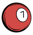 billiard ball icon cartoon vector image