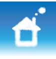 Abstract House From Clouds In Blue Sky vector image