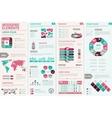 Infographic Design Set vector image