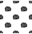 Cabbage icon in black style isolated on white vector image