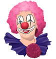 happy smiling and funny clown vector image