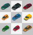 modern car set vector image