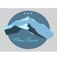 Mount Everest label with type design in vintage vector image