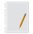 note book paper with pencil vector image
