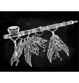 Pagan Indian smoking pipe of peace vector image