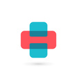 Letter H cross plus logo icon design template vector image vector image