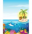 Beautiful underwater creatures vector image vector image