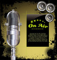 Local radio station grunge background vector image