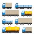 flat set of trucks vector image