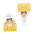 set of funny cartoon chef vector image vector image