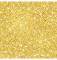 Gold glitter texture with sparkles vector image