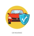 Car Insurance Flat Icon vector image vector image