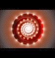 abstract red spiral vector image