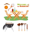 Barbecue BBQ poster elements vector image