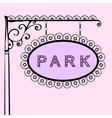 Park retro vintage street sign vector image