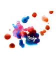 Watercolor sky background vector image