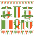 irish flags vector image vector image