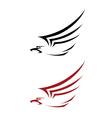 tattoo hawk vector image vector image