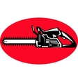 chainsaw sideview vector image