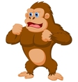 Gorilla cartoon vector image