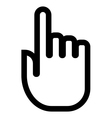 Pointing finger cursor icon vector image vector image