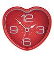 Heart shaped clock vector image vector image