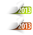 2013 new year stickers vector image