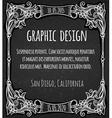 Black chalk board template vintage frame vector image
