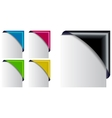 colored corner ribbon set vector image vector image
