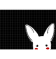White Rabbit Grid Background vector image