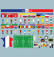Flags and groups European football championship vector image