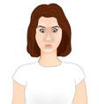 girl portrait beautiful womans profile isolated vector image
