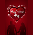 happy valentines day card design heart shape and vector image