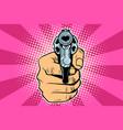 heart love valentine revolver in hand vector image