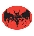 icon happy halloween bat devil ghost art face vector image