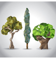 lowpoly trees vector image