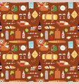 picnic basket food relaxation vacation lunch meal vector image