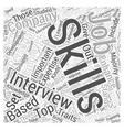 Skills emphasis job interview dlvy nicheblowercom vector image