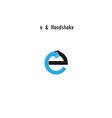 Creative e- letter icon abstract logo design vector image vector image