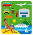 sea resort journey vector image
