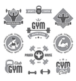 Monochrome gym labels vector image vector image