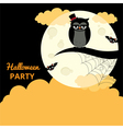 Poster for the Halloween party vector image vector image