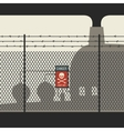 Danger zone with fence vector image