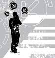 communication grunge background vector image vector image