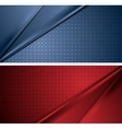 Abstract blue and red soft lines banners vector image