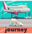 Airport and airplane flat vector image